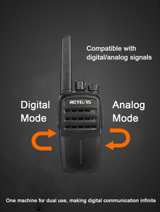 Image 2 - RETEVIS RT40 Licence free Digital Two Way Radio Portable Walkie Talkie 2pcs DMR PMR446/FRS PMR 446MHz 0.5W For Hotel/Restaurant