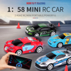 RC Car 1:58 Remote Control MINI Battery Operated Racing Car PVC Cans Pack Machine Drift-Buggy Bluetooth radio Controlled Toy Kid