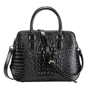 Image 1 - Женская сумка из натуральной кожи, модная сумка через плечо с узором «крокодиловая кожа», Классическая сумка через плечо, LongLight