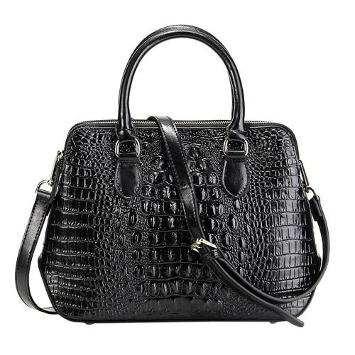 Женская сумка из натуральной кожи, модная сумка через плечо с узором «крокодиловая кожа», Классическая сумка через плечо, LongLight