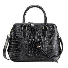 Longlight femmes sac à main en cuir fendu à la mode motif Crocodile en cuir sac à bandoulière classique fourre tout sac à bandoulière