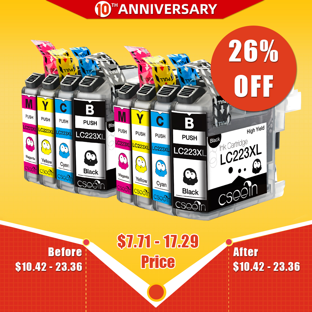 LC223 Ink Cartridge LC 223 LC223XL Compatible For Brother DCP-J562DW DCP-J4120DW MFC-J480DW MFC-J680DW MFC-J880DW MFC-J4620DW
