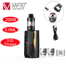 Electronic Cigarette Vape Vaptio 200w Box Mod N1 Pro LITE KIT 200W fitted External 18650 batteries 0.1-5.0ohm resistance Vapor(China)