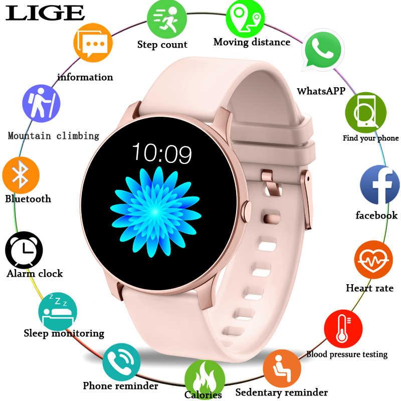 2019 หน้าจอสีใหม่ผู้หญิงกีฬา Smart Watch ผู้ชายผู้หญิงฟิตเนส Tracker สำหรับ iPhone Heart Rate ความดันโลหิตฟังก์ชั่น smartwatch
