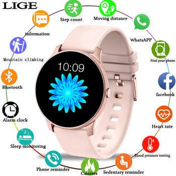 2019 nouveau couleur écran femmes sport montre intelligente hommes femmes Fitness tracker pour iPhone fréquence cardiaque pression artérielle fonction smartwatch