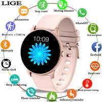 2019 nuevo reloj inteligente de deporte de pantalla a Color para mujeres, rastreador de Fitness para hombres y mujeres, para iPhone, función de presión arterial, reloj inteligente