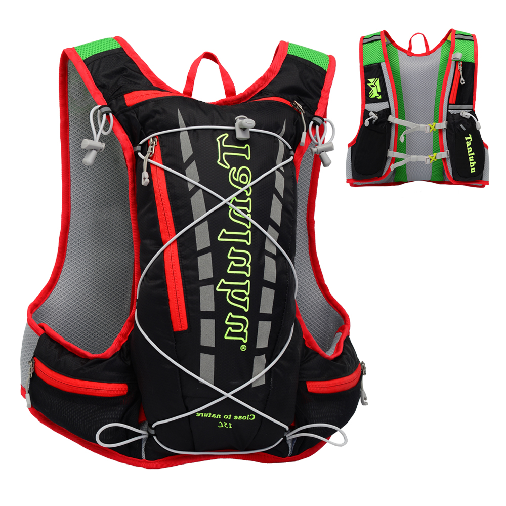 running - 15L Outdoor Marathon Hydration Pack Backpack Reflective Running Hydration Vest for Hiking Cycling Climbing SB0033