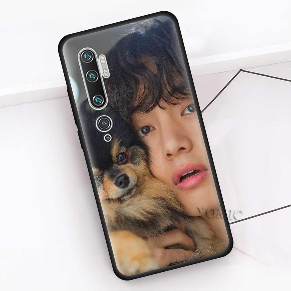 Black Case For Xiaomi Mi Note 10 9 SE 9T CC9 Pro 5G A3 A2 8 Lite Poco X2 Soft Silicone Phone Cover V Kim Tae Hyung K Pop