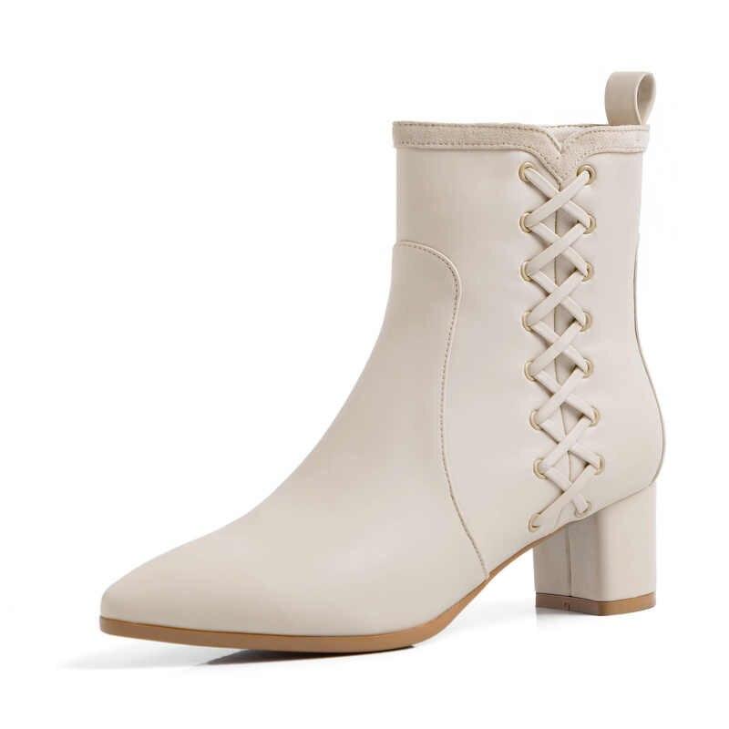 Herfst Schoenen Vrouwen Enkellaars Suede Zwarte Chelsea Laarzen Slip op Dames Casual Dikke Hak Schoenen Mode Comfortabele Vrouwelijke