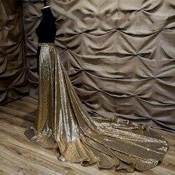 Jupe de train de paillettes d'or, robe détachable de train de jupe, jupe détachable de mariée, jupe noire, robe de mariée de paillettes d'or