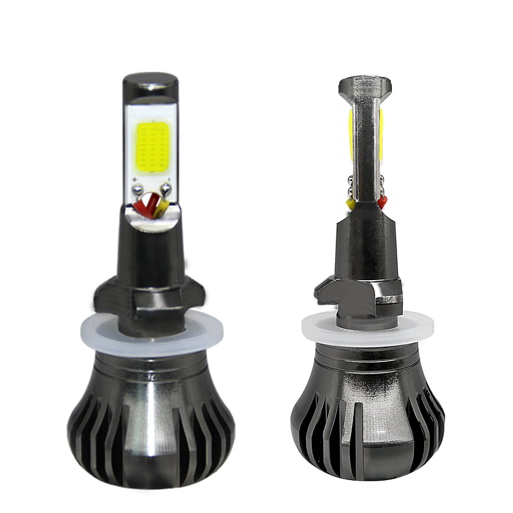 2PCS Car LED Fog Light 9600LM H3 H11 880 White And Yellow Daytime Running Light Fog Light 12V 24V Driving Lamp