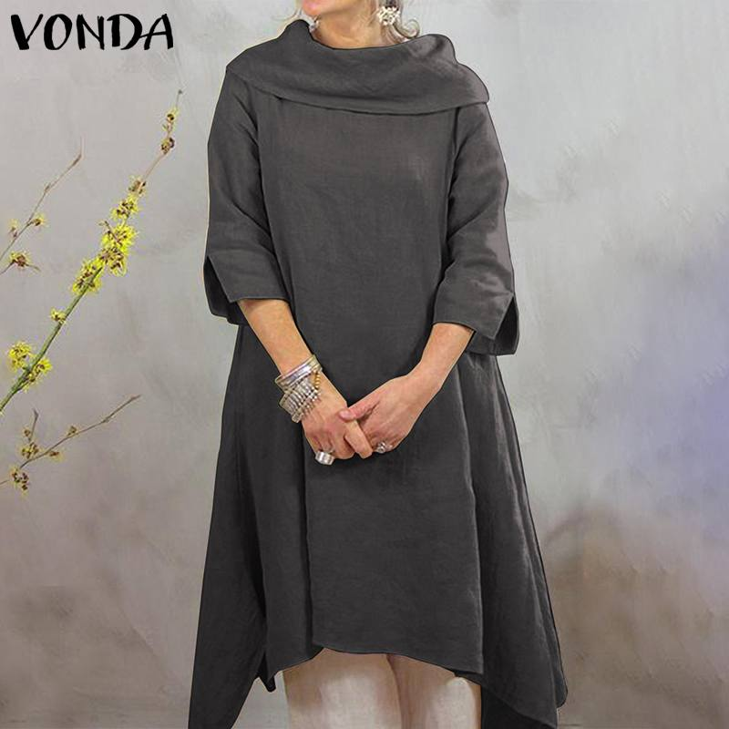 VONDA Half Sleeve Elegant Tunic Party Maternity Dress Female O Neck Solid Warm Basic Dresses Casual Office Pregnancy Vestidos