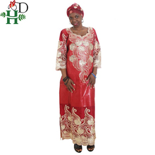 H&D african clothing dresses for women headwraps robe south africa bazin riche sequin wax dress plus size beautiful gown