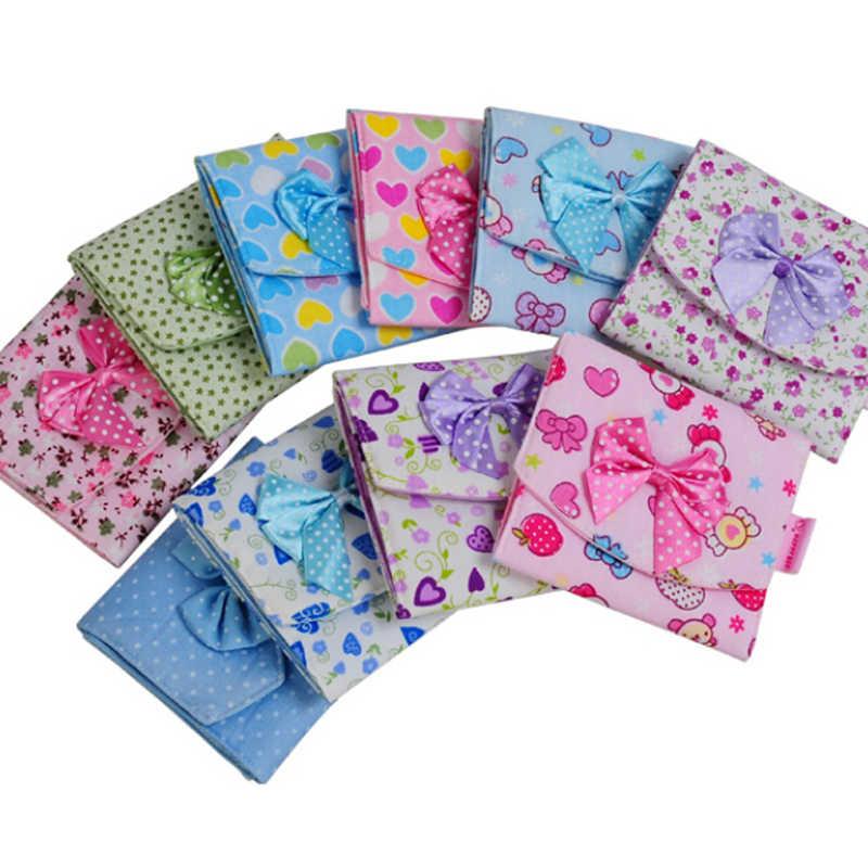 ผู้หญิงสาว Tie สุขาภิบาลผ้าเช็ดตัวผ้าเช็ดตัว Pads ขนาดเล็กกระเป๋าผู้ถือ Organizer