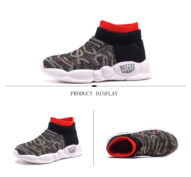PINSEN 2019 Spring Autumn Children Sneakers Girls Shoes Fashion Kids Shoes Mesh Breathable Child Socks Shoes Boys Casual Shoes (7)
