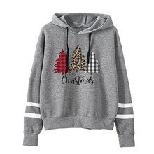 Худи с рождественской елкой винтажный свитшот Повседневная Толстовка