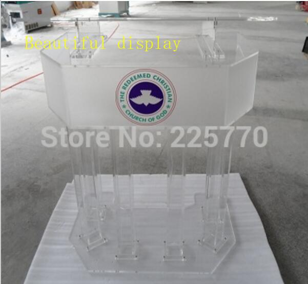 Three Tier Big Acrylic Church Lectern Perspex Church Podium   Church Platform Pulpit Lectern