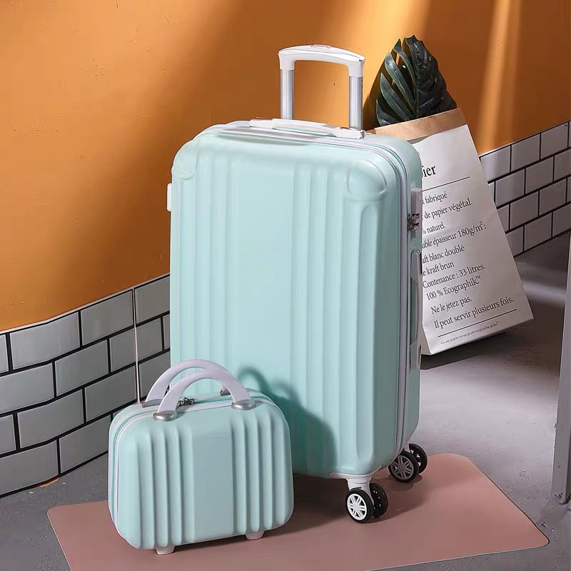20''24 Inch ABS+PC Luggage Set Travel Women Suitcase On Wheels Travel Carry On Cabin Rolling Luggage Women Trolley Luggage Kids