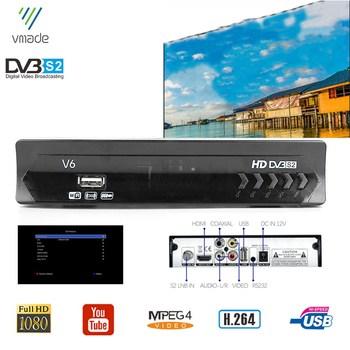 Full HD 1080P Digital TV Box DVB-S2 Satellite TV Receiver Dolby AC3 TV Tuner Decoder Support Youtube Bisskey IP-TV H.264 MPEG4 [genuine]dmyco v9s pro usb wifi dvb s2 satellite tv receiver support powervu bisskey necamd youtube youporn pk v8 super