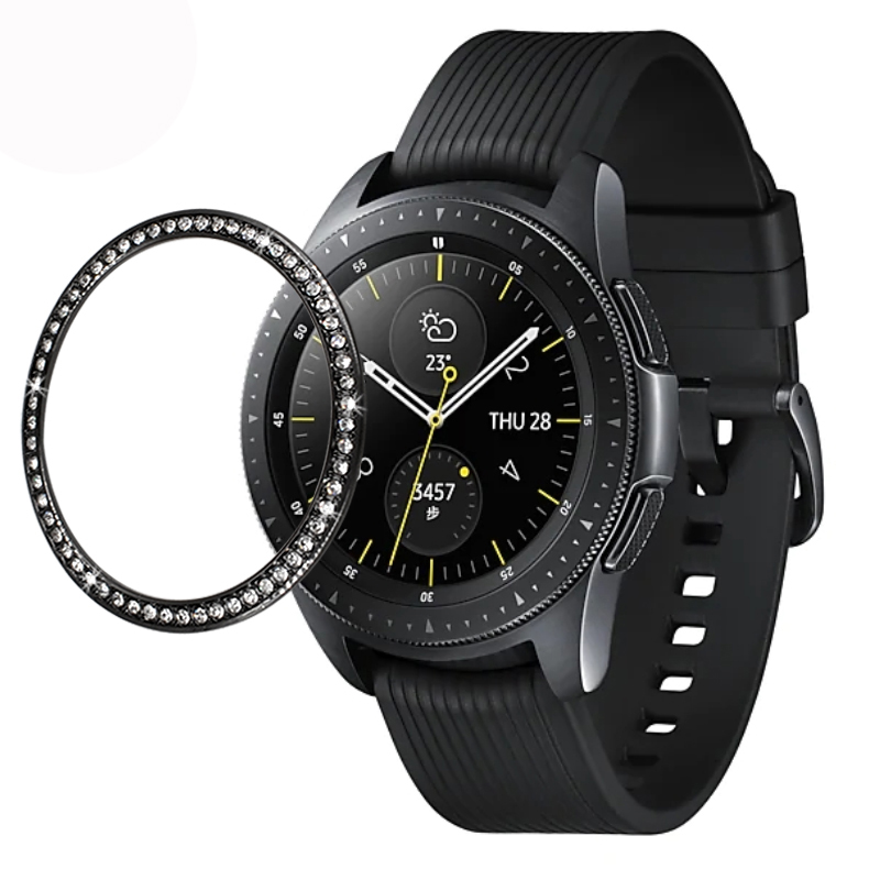 Gear s3 Bezel For Samsung Galaxy Watch 46mm 42mm Metal Diamond Ring Adhesive Cover Anti Scratch smart watch accessories