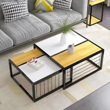 Creative 2 in 1 coffee table living room coffee tea table center side table sofa table save space Telescopic design small table gramercy стол leslie center table