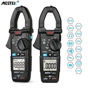 MESTEK Digital Clamp Meter 600A AC Current AC/DC Voltage Ohm True RMS Auto Range VFD Capacitance NCV Tester Ammeter Multimeter(China)