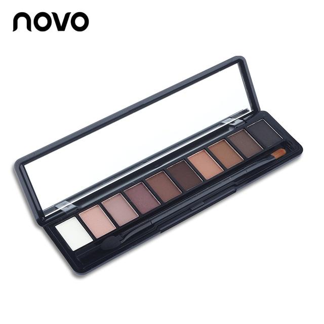 NOVO Beauty Cosmetics 10 Colors Matte Eyeshadow Palette Paleta De Sombra Nude Makeup Eye Shadow Waterproof 3