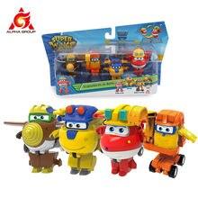 Super Wings – quatre tenues transforma-boots 4PK, figurines d'action Transformation pour enfants, cadeaux d'anniversaire