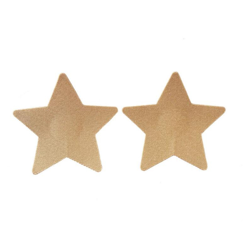 50pairs (100Pcs)/lot New women Nipple Covers color Beige stars Disposable Breathable Breast Pasties