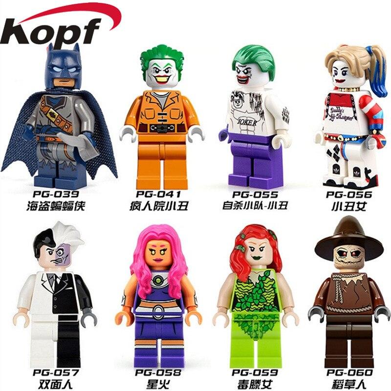 Super Heroes Batman Arkham Asylum Joker Quinn Two Face Poison Ivy Scarecrow Star Wars Building Blocks Toys For Children PG8013