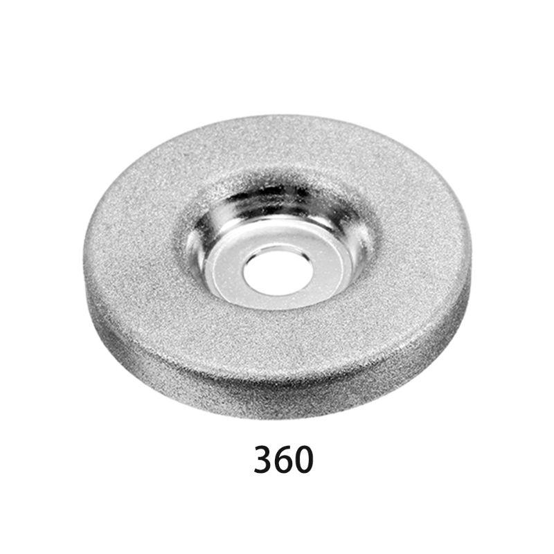 1pc 56mm 180/360 Grit Diamond Grinding Wheel Circle Grinder Stone Sharpener Angle Cutting Wheel Rotary Tool