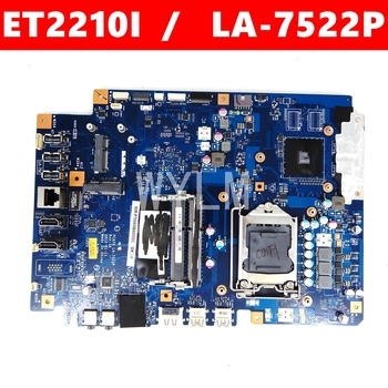 ET2210I Mainboard REV 1A All-in-one mainboard For ASUS ET2210I LA-7522P motherboard 90PT0110-R03000