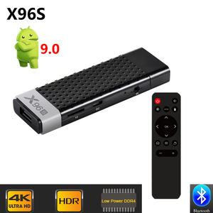 X96 S DDR4 4 Гб RAM 32 ГБ ROM TV Stick Smart Android 9,0 TV Box Amlogic S905Y2 WiFi Bluetooth 4K HD TV Dongle Mini PC X96S
