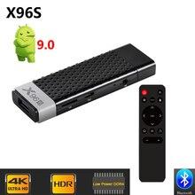 X96 S DDR4 4GB RAM 32GB ROM טלוויזיה מקל חכם אנדרואיד 9.0 טלוויזיה תיבת Amlogic S905Y2 WiFi Bluetooth 4K HD טלוויזיה Dongle מיני מחשב X96S