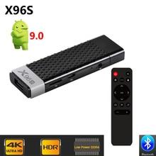 X96 S DDR4 4GB RAM 32GB ROM جهاز استقبال للتليفزيون الذكية أندرويد 9.0 صندوق التلفزيون Amlogic S905Y2 واي فاي بلوتوث 4K HD موصل تلفاز جهاز كمبيوتر صغير X96S