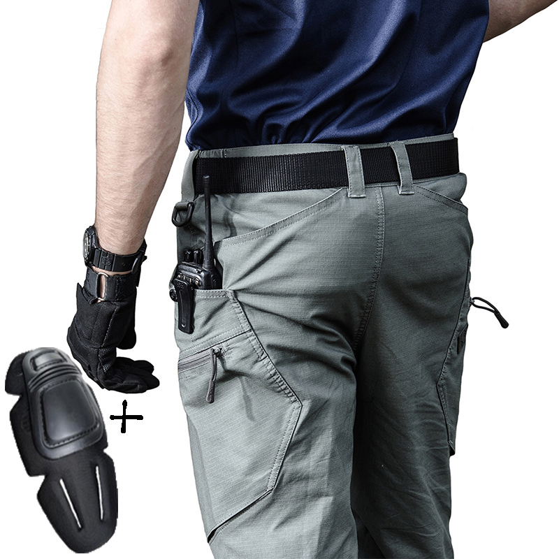 Men Military Army Tactical Pants Man Urban Tactical Clothing Combat Trousers Multi Pockets Unique Casual Pants Ripstop Fabric