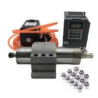 2.2kw 3hp 220v 24000 rpmwater 냉각 스핀들 모터 2.2kw 주파수 변환기 펌프 홀더 er20 1-13mm 콜레트 키트 라우터 목공
