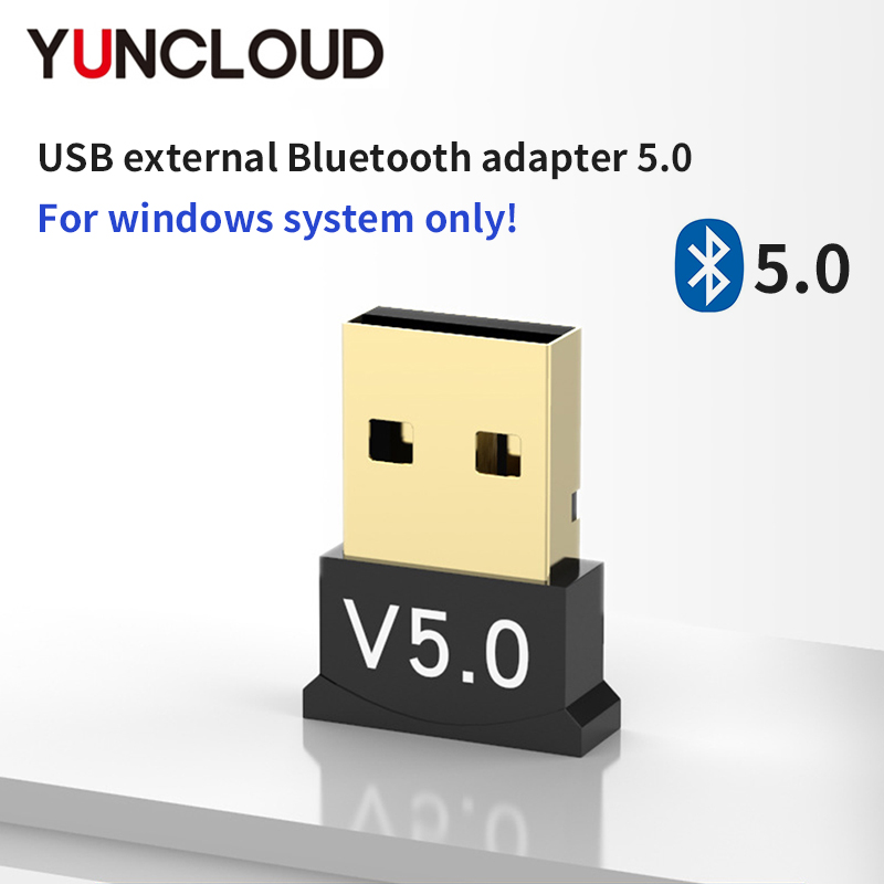 Bluetooth 5.0 Adapter BT Transmitter & Receiver USB-A Audio Dongle Wireless USB Adapter for Computer PC Laptop