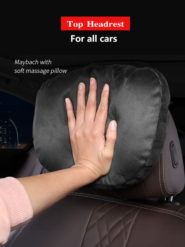 Top Quality Car Headrest Neck Support Seat   Maybach Design S Class Soft Universal Adjustable Car Pillow Neck Rest Cushion