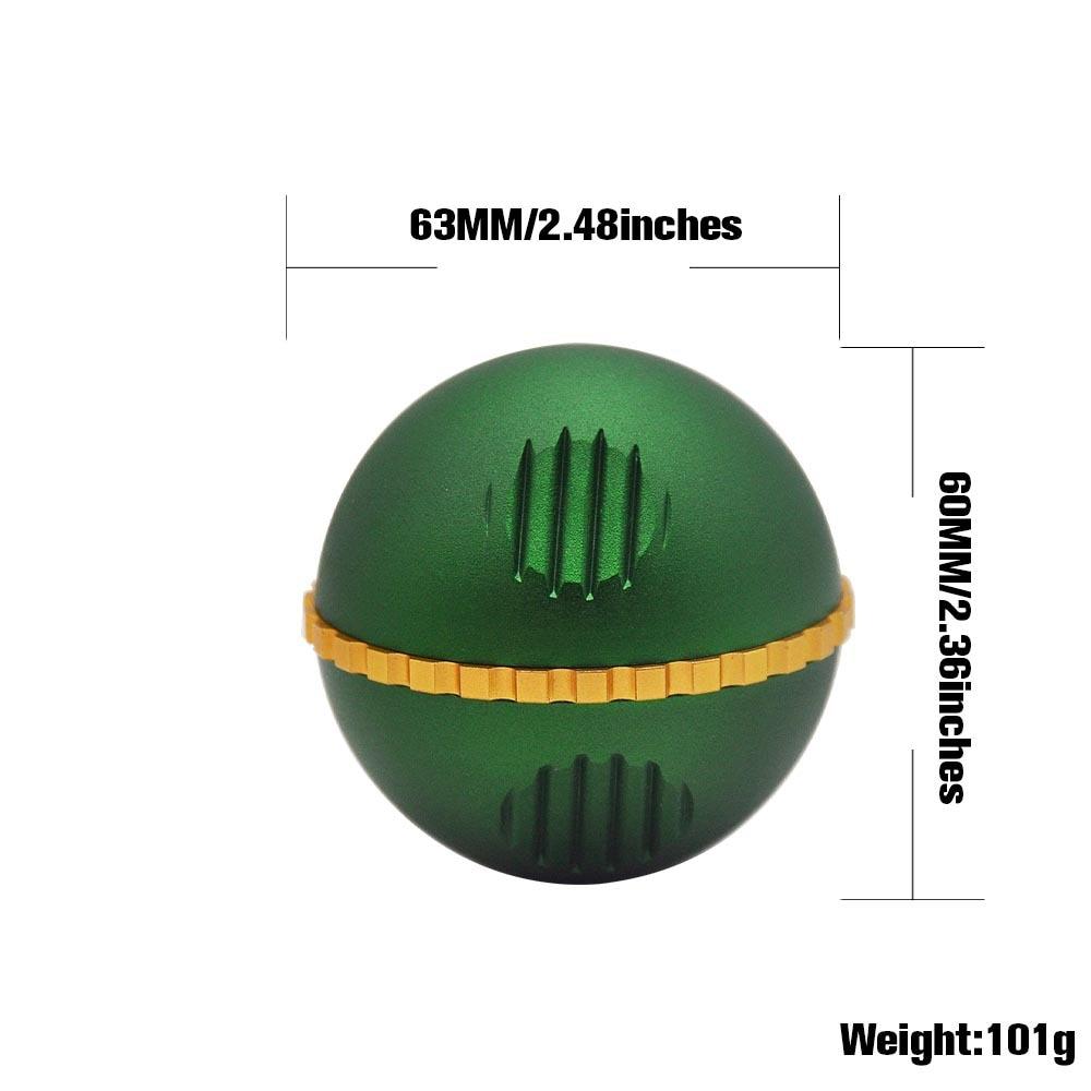 New 3 Piece metal ball type grinding machine 63mm zinc alloy grinder herb grinder With Pollen Scraper 1