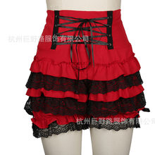 Mid Century Modern Young Women Lace High Waist Sexy Bottoming Shorts Dress European Clothing Anime Cosplay French Ball Costumes(China)
