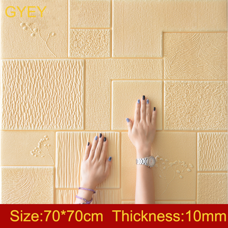 3D Wall Stickers Thick Living Room Wall Bedroom Decoration Room Simulation Brick Pattern Personality Creative Anti-collision