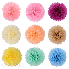 Handmade Tissue Party Flower kule dekoracyjne papierowe pompony ślubne dekoracyjne Baby Shower urodziny Favor Decor cheap Jednolity kolor Ślub i Zaręczyny Płeć Reveal Birthday party CHRISTMAS HALLOWEEN Wielkanoc New Year Graduation Rocznica