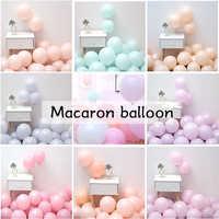 50 Uds 10 pulgadas 1,8g Color rosa Macaron globos fiesta de cumpleaños Pastel globos de gas helio Deco cumpleaños bebé ducha niños niñas
