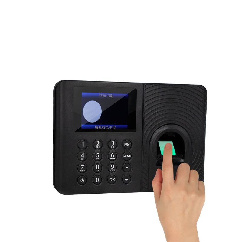 Fingerprint Attendance Machine Time Clock Employee Payroll Work Recorder USB Flash Disk Report 2.4inch LCD Screen Display
