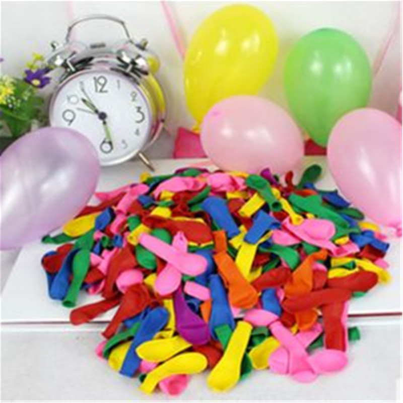 100pcs / lot small balloon water bomb colorful inflatable apple ball water polo toy children birthday party supplies(China)