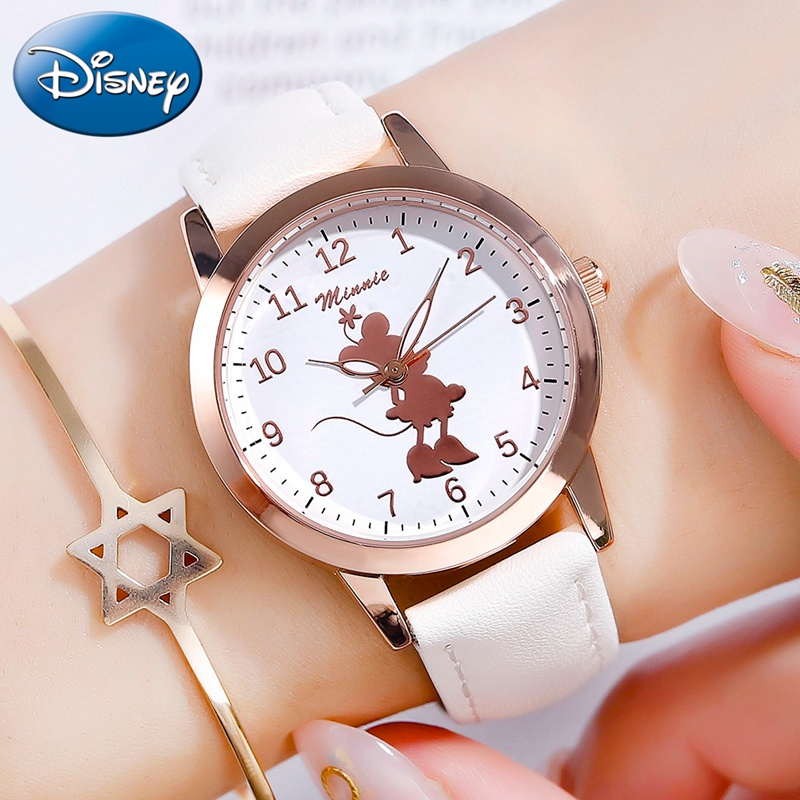 New Minnie Mouse Kids Girl Cute Beautiful Quartz Watches Teenager Time Lady Strap Children Watch Gift Birthday Child Women Clock
