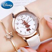 Relógios minnie mouse infantis, relógios bonitos de quartzo para crianças adolescentes pulseira de presente de aniversário