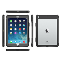 case ipad For iPad 10.2 2019 Case Dual Layer PC + TPU Cover Waterproof Dustproof Anti-fall Tablet Protective Shell For iPad 10.2 2019 Case (1)