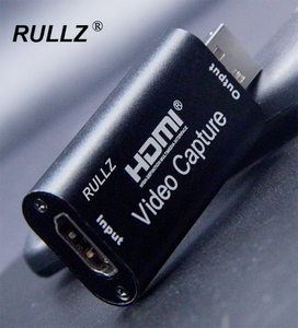 Rullz 4K USB 2.0 Audio Video Capture Card 1080P HDMI Camera PS4 Game Acquisition Card Video Recorder Live Streaming Box Grabber